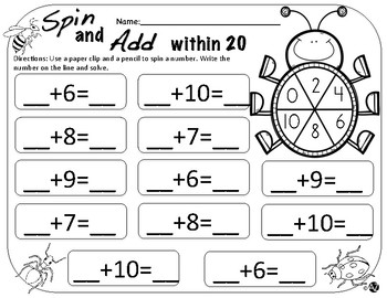 Spin Add and Subtract Fall, Winter, Spring Bundle