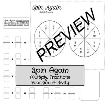 Spin Again: Multiply Fractions