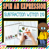 Spin An Expression-Subtraction Within 20 Fact Fluency Games