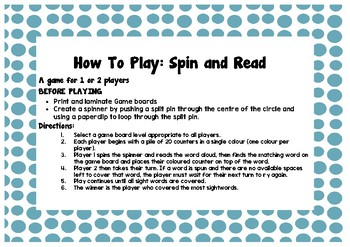 Spin And Read Game Pack