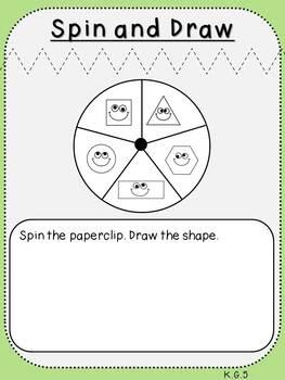 Build and Draw Shapes (***K.G.5, Kindergarten FREEBIE***)