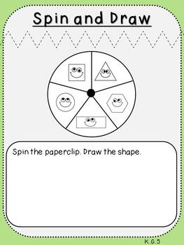Build and Draw Shapes (***K.G.5, Kindergarten FREEBIE***)