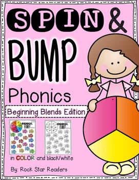 Spin & Bump *Beginning Blends* 5 fun BUMP games for phonics