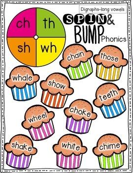 Spin & Bump *Digraphs Edition* 5 fun BUMP games for phonics