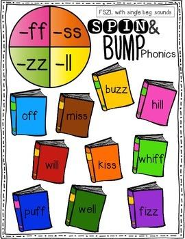 Spin & Bump * FSZL FLOSS Rule Edition* 5 fun BUMP games for phonics