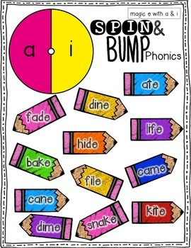 Spin & Bump * Magic/Silent E Edition* 5 fun BUMP games for phonics