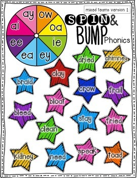 Spin & Bump * Phonics Games* Fun Bump Games GROWING BUNDLE!