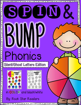 Spin & Bump *Silent/Ghost Letters* 5 fun BUMP games for phonics