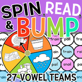 Spin & Bump Vowel Teams & Controlled R Worksheets