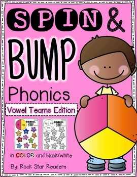 Spin & Bump * Vowel Teams Edition* 5 fun BUMP games for phonics