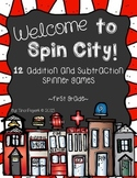 Spin City: Addition & Subtraction Games to 20
