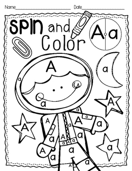 Spin & Color {Alphabet Printables}