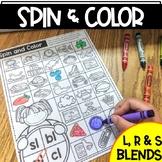 Spin & Color Blends Game   L Blends   R Blends   S Blends