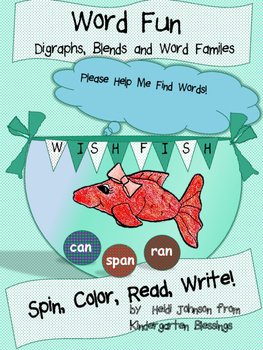 Spin, Color, Read, Write Digraphs, Blends and Word Families