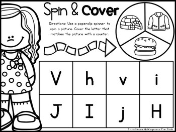 Spin & Cover {Initial Sounds}