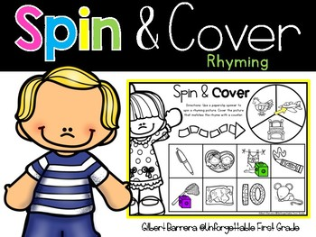 Spin & Cover {Rhyming}