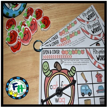 Spin & Cover Rhyming Words Activity Center