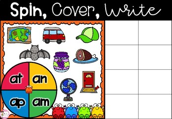 Spin, Cover & Write - Set 2: Word Families