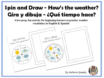 Spin & Draw/Gira y Dibuja - How's the weather? ¿Qué tiempo hace?