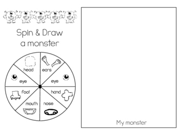 Spin & Draw a Monster/Gira y Dibuja un monstruo - Practice for body parts