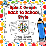 Spin & Graph: Back to School (Bar Graph, Tally Chart, Line Plot & Pie Graph)