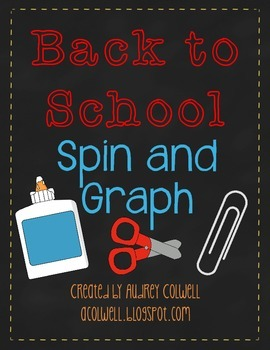 Spin & Graph - Back to School  {FREEBIE}