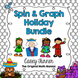 Spin & Graph Holiday Bundle (Bar Graph, Tally Chart, Line Plot & Pie Graph)