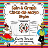Spin & Graph: Cinco de Mayo (Bar Graph, Tally Chart, Line Plot & Pie Graph)