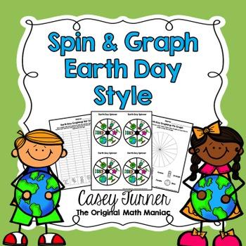 Spin & Graph: Earth Day (Bar Graph, Tally Chart, Line Plot & Pie Graph)