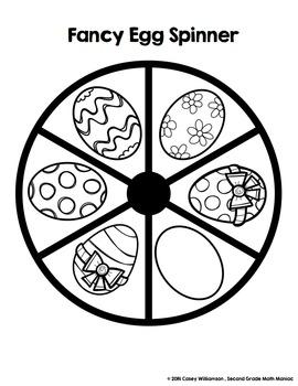Spin & Graph: Fancy Eggs (Bar Graph, Tally Chart, Line Plot & Pie Graph)