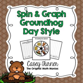 Spin & Graph: Groundhog Day (Bar Graph, Tally Chart, Line Plot & Pie Graph)