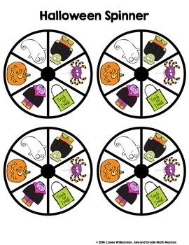 Spin & Graph: Halloween Style (Bar Graph, Tally Chart, Line Plot & Pie Graph)