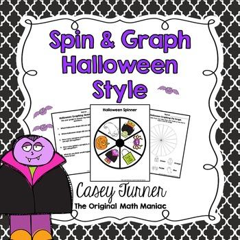 Spin & Graph: Halloween Style (Bar Graph, Tally Chart, Lin