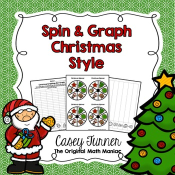 Spin & Graph: Christmas (Bar Graph, Tally Chart, Line Plot & Pie Graph)