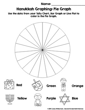 Spin & Graph: Hanukkah (Bar Graph, Tally Chart, Line Plot & Pie Graph)