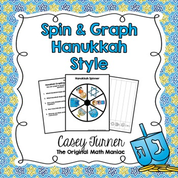 Spin & Graph: Hanukkah (Bar Graph, Tally Chart, Line Plot & Pie Graph)