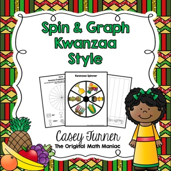 Spin & Graph: Kwanzaa (Bar Graph, Tally Chart, Line Plot & Pie Graph)