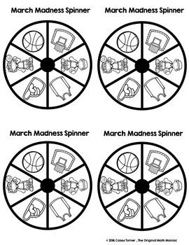 Spin & Graph: Basketball Style (Line Plot, Bar Graph, Pie Graph, Tally Chart)