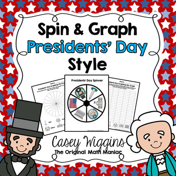 Spin & Graph: President's Day (Bar Graph, Tally Chart, Line Plot & Pie Graph)
