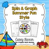 Spin & Graph: Summer Fun (Bar Graph, Tally Chart, Line Plot & Pie Graph)