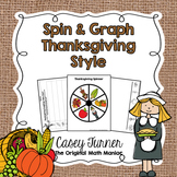 Spin & Graph: Thanksgiving Style (Bar Graph, Tally Chart, Line Plot & Pie Graph)