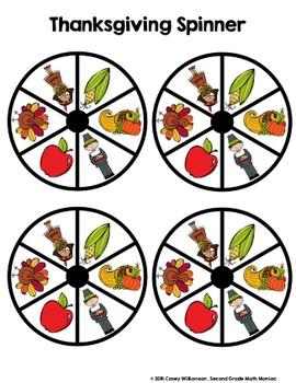 Spin & Graph: Thanksgiving Style (Bar Graph, Tally Chart, Line Plot & Pie Graph)