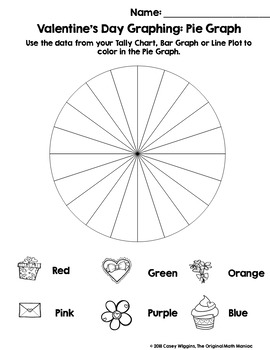 Spin & Graph: Valentine's Day (Bar Graph, Tally Chart, Line Plot & Pie Graph)