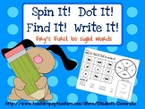 Spin It, Find It, Write It - Sight Word Center for Fry's F