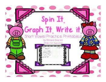 Spin It. Graph It. Write It. {Short Vowels}
