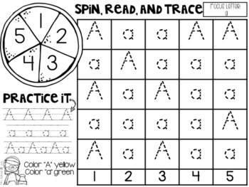 Spin It! Letters