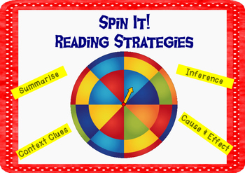 Spin It! Reading Strategies Game