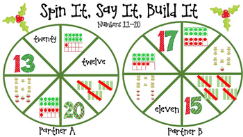 Spin It, Say It, Build It Math Station