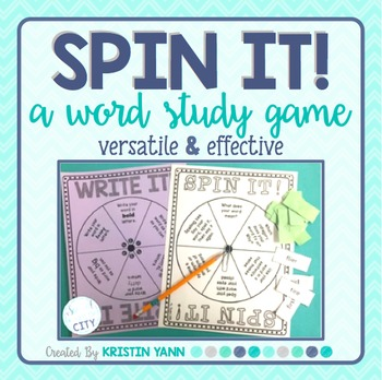 Word Study Game: Spin It!