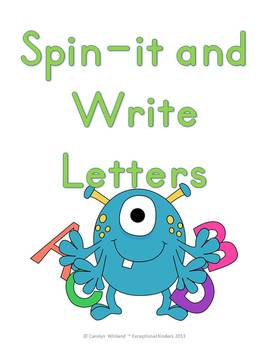 Spin-It and Write Letters